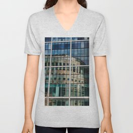 London Photography Canary Wharf Reuters Unisex V-Neck