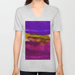 Encaustic Abstract No.27H by Kathy Morton Stanion Unisex V-Neck