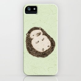 Plump Hedgehog iPhone Case