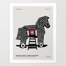 TROJAN HORSE Art Print