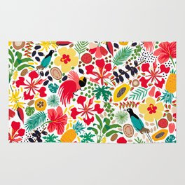 tropical botanical Rug