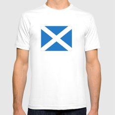 Flag of scotland MEDIUM Mens Fitted Tee White