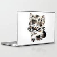 kitty Laptop & iPad Skins featuring Kitty by quackso