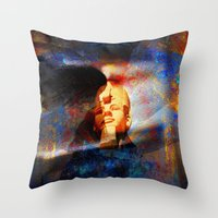 egypt Throw Pillows featuring ancient Egypt by  Agostino Lo Coco