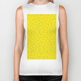 Postmodern Germs No. 1 in Canary Yellow Biker Tank