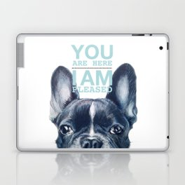 French Bulldog with love note, Dog illustration original painting print Laptop & iPad Skin