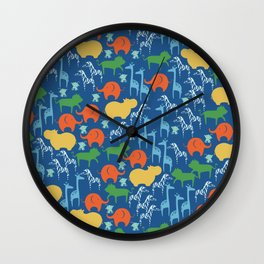 Zoo Animal Fun Wall Clock