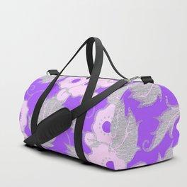 Purple Blossoms Duffle Bag