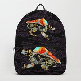 Black Lion Batik Backpack