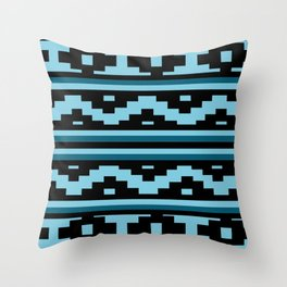 Etnico blue version Throw Pillow