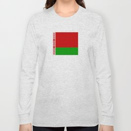 flag of belarus-belarusian,Minsk,Homyel,russia,snow,cold,chess,bear,rus,wheat,europe,easthern europe Long Sleeve T-shirt