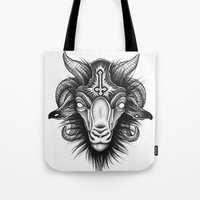 goat Tote Bags featuring Goat by Alexander Kukinov