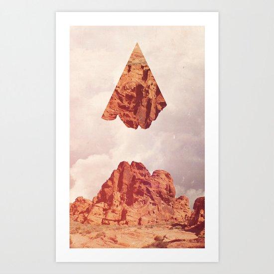 Montaña Abajo Art Print