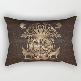 Vegvisir - Viking Compass Ornament Rectangular Pillow