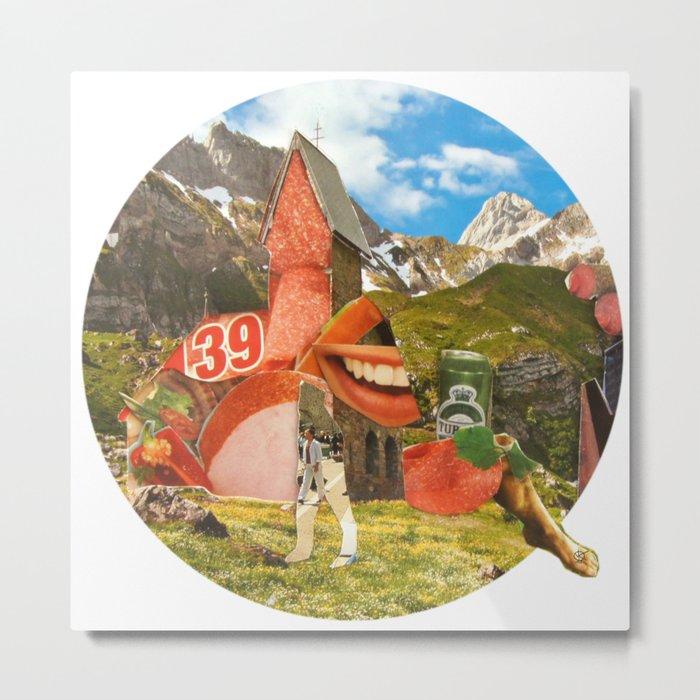 Surreala Alpina 28 · Crop Circle Metal Print