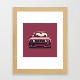 Famous german e30 Framed Art Print