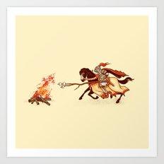 Marshmallow Joust Art Print