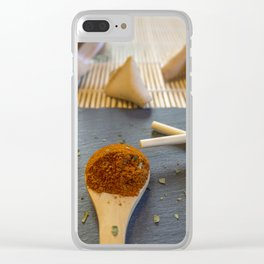 Herb and Spices. Clear iPhone Case