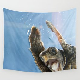 Screaming Turtle Wall Tapestry