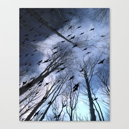 Crows Top Of The Sky Canvas Print