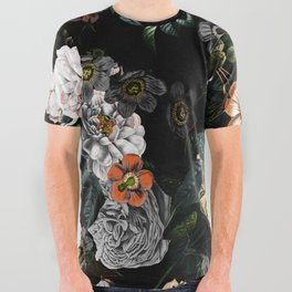 Floral Night Garden All Over Graphic Tee