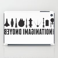 millenium falcon iPad Cases featuring Beyond imagination: Millenium Falcon postage stamp  by Chungkong