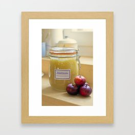 Home made apple sauce Framed Art Print