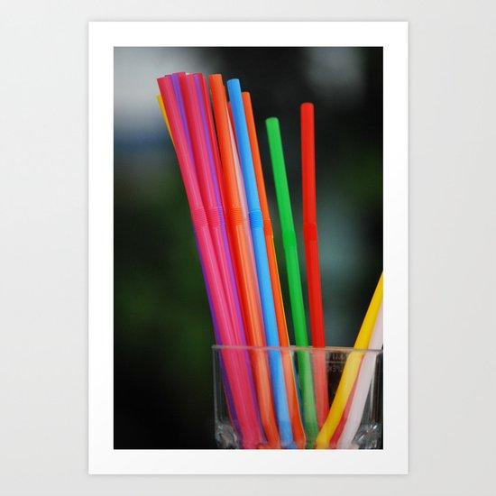 Straws Art Print