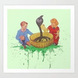 Snake Charmers Art Print