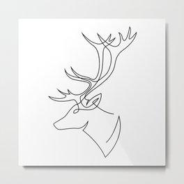 Deer line Metal Print