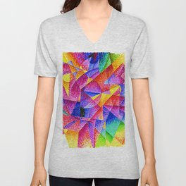 Spherical Expansion of Light No. 2, Centripetal and Centrifugal by Gino Severini Unisex V-Neck