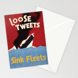 Loose Tweets Sink Fleets Stationery Cards