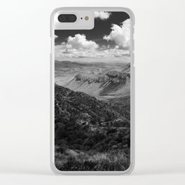 Dramatic Cloudy Mountain View at Lost Mine Trail, Big Bend Clear iPhone Case