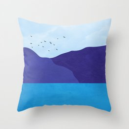 Sea poster Throw Pillow