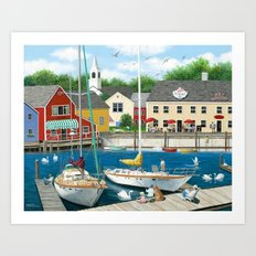 Swans Haven Art Print