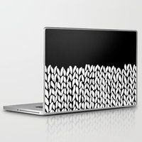 knit Laptop & iPad Skins featuring Half Knit by Project M