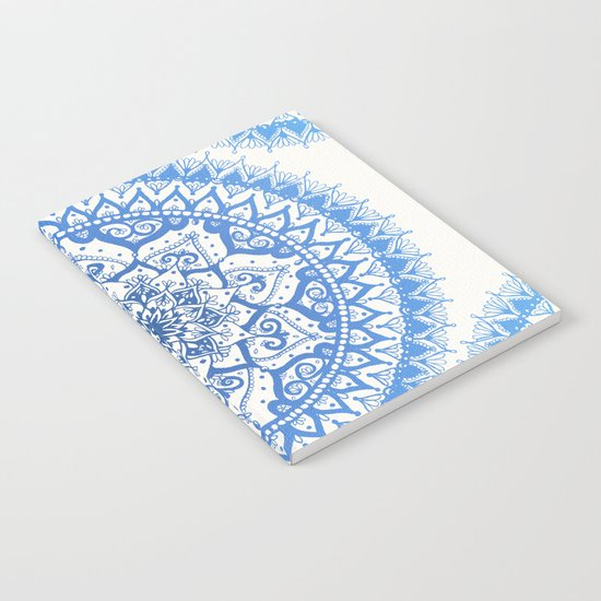 Yin Yang Mandala in Soft Blues Notebook