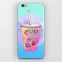 drink iPhone & iPod Skins featuring Summer Drink by Sara Eshak