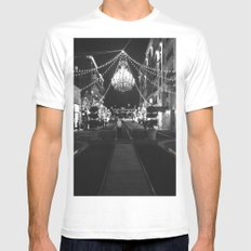 This Is A Classy Town MEDIUM Mens Fitted Tee White
