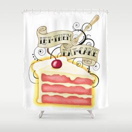 Let Them Eat Cake Vintage Tattoo Style Shower Curtain