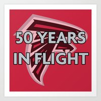 nfl Art Prints featuring NFL - Falcons 50 Years by Katieb1013