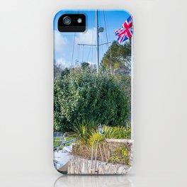 Mylor Bridge - Quay House Flag Pole iPhone Case