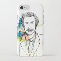 anchorman iPhone & iPod Cases featuring Ron Burgundy, Anchorman of Legend by AnnieInk