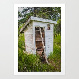 Outhouse at the Church, North Dakota 3 Art Print