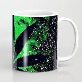 Galaxy Weed Leaf - Green Coffee Mug