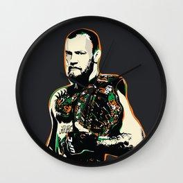 Conor McGregor Pop art quote Wall Clock