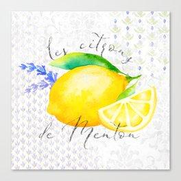 Les Citrons de Menton—Lemons from Menton, Côte d'Azur Canvas Print