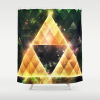 triforce Shower Curtains featuring Triforce by Spires