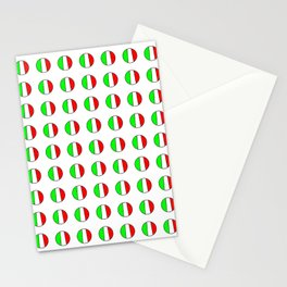 Flag of Italy in a polka dot - Italy,Italia,Italian,Latine,Roma,venezia,venice,mediterreanean,Genoa, Stationery Cards