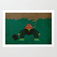 spider man Art Prints featuring Spider man by Sklett